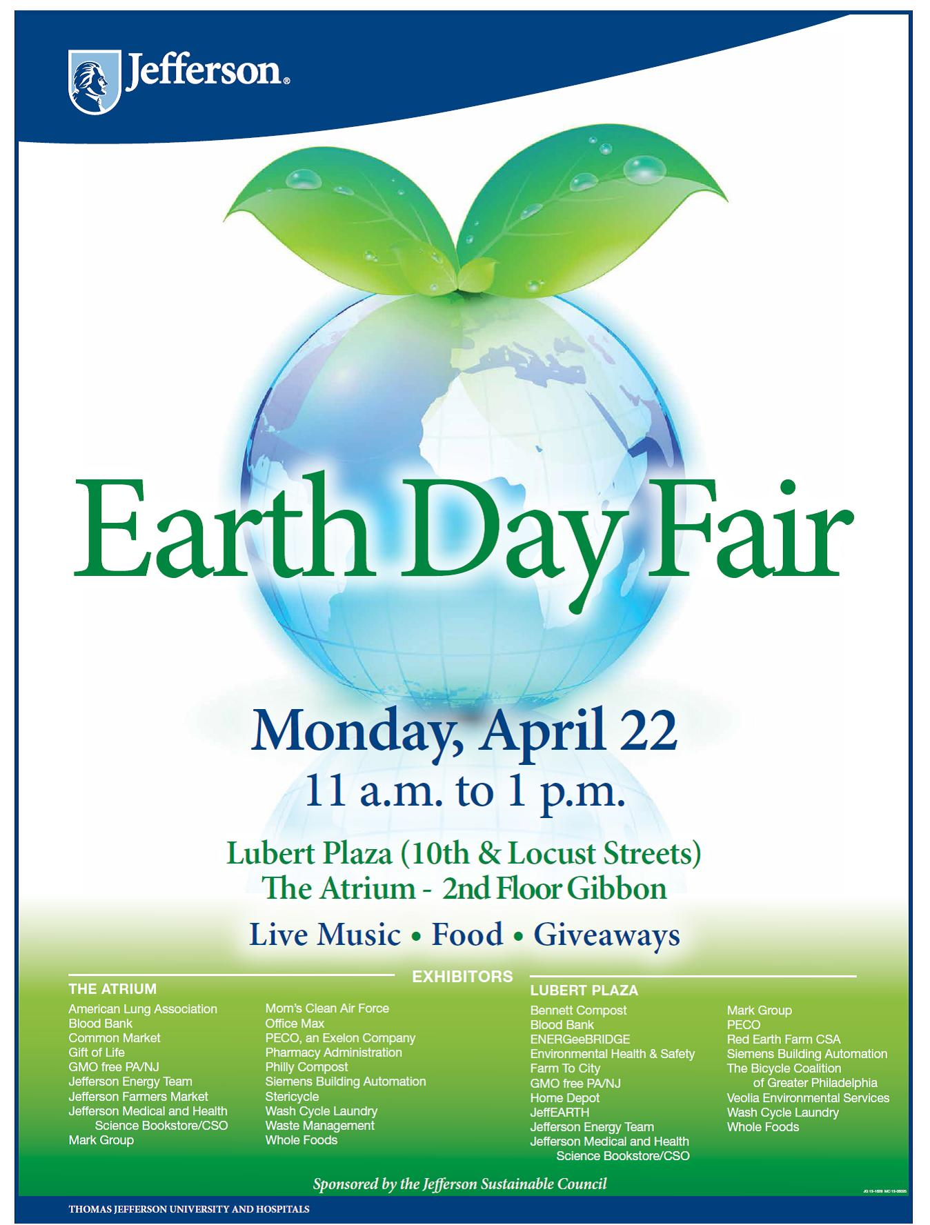Thomas Jefferson Univeristy and Hospital Earth Day Event 2013 ...